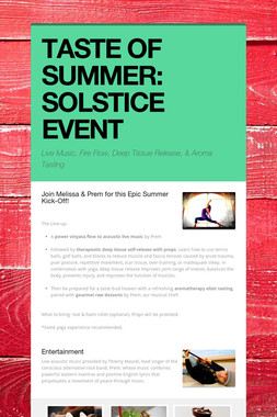 TASTE OF SUMMER: SOLSTICE EVENT