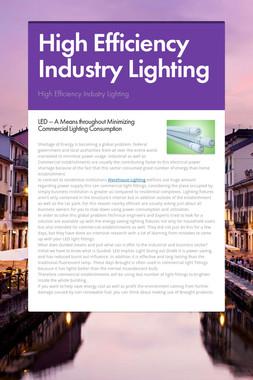 High Efficiency Industry Lighting