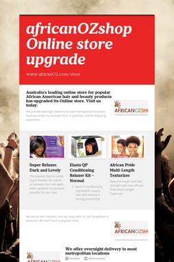 africanOZshop Online store upgrade