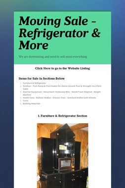 Moving Sale - Refrigerator & More