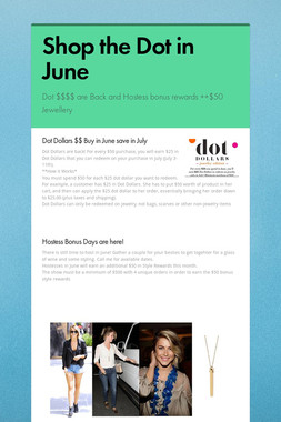 Shop the Dot in June