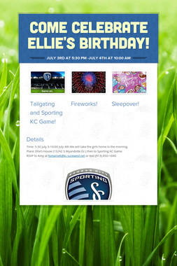 Come Celebrate Ellie's Birthday!