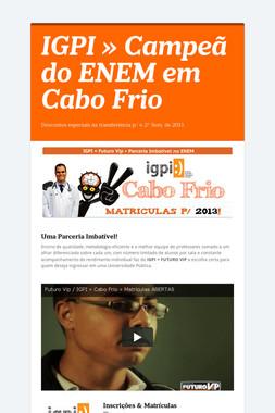 IGPI » Campeã do ENEM em Cabo Frio