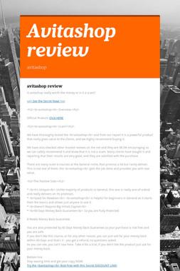 Avitashop review