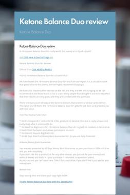 Ketone Balance Duo review