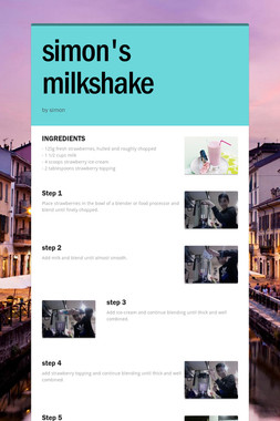 simon's milkshake