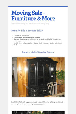 Moving Sale - Furniture & More
