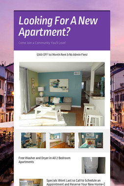 Looking For A New Apartment?