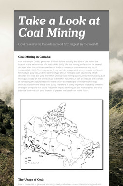 Take a Look at Coal Mining