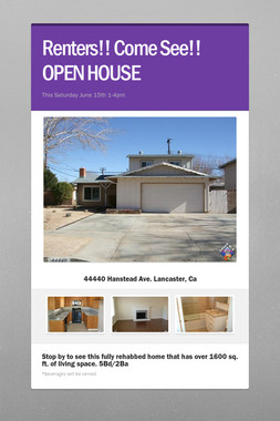 Renters!! Come See!!     OPEN HOUSE