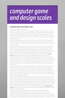 computer game and design scales