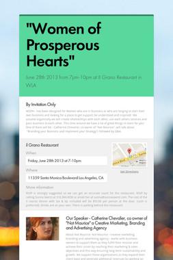 """""""Women of Prosperous Hearts"""""""