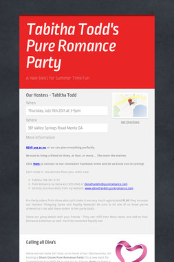 Tabitha Todd's Pure Romance Party