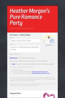 Heather Morgan's Pure Romance Party