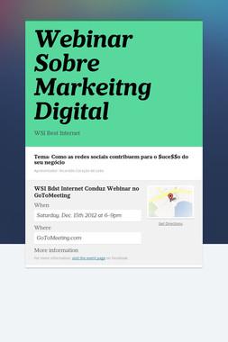 Webinar Sobre  Markeitng Digital