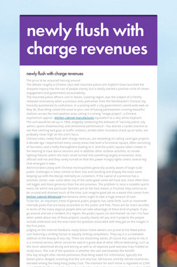 newly flush with charge revenues