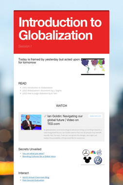 Introduction to Globalization