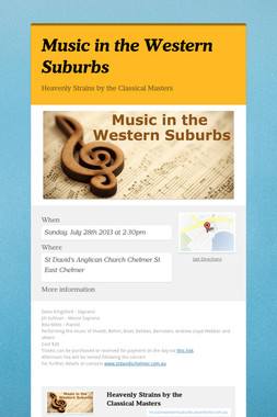 Music in the Western Suburbs