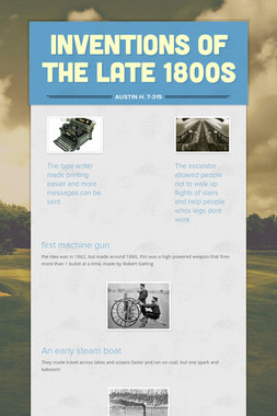 inventions of the late 1800s
