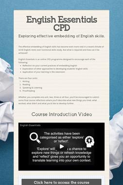 English Essentials CPD