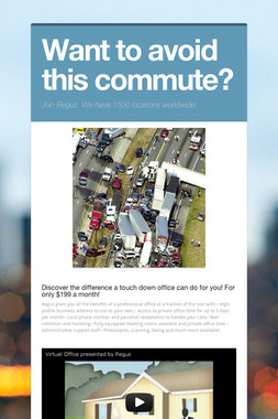 Want to avoid this commute?