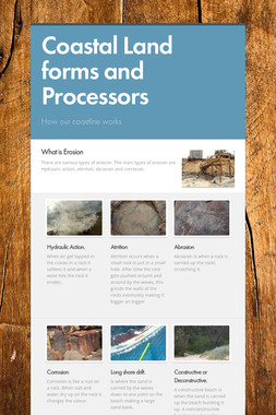 Coastal Land forms and Processors