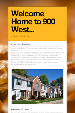 Welcome Home to 900 West...
