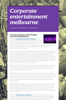 Corporate entertainment melbourne
