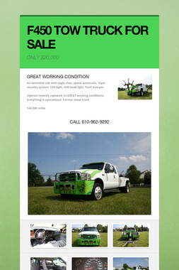 F450 TOW TRUCK FOR SALE
