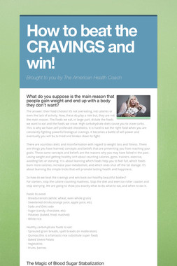 How to beat the CRAVINGS and win!