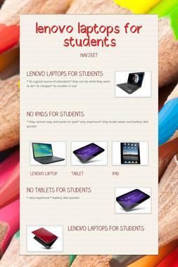 lenovo laptops for students