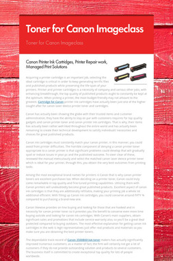 Toner for Canon Imageclass