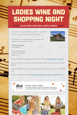 Ladies Wine and Shopping Night