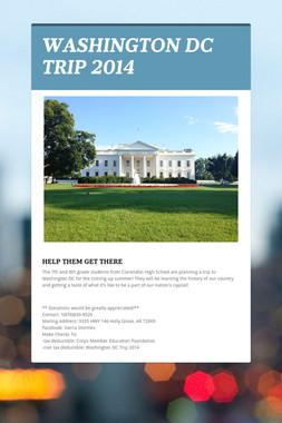 WASHINGTON DC TRIP 2014
