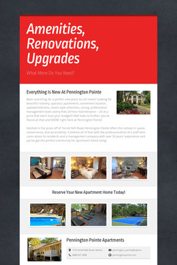 Amenities, Renovations, Upgrades