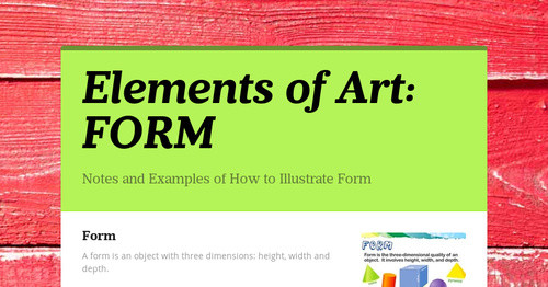 Elements Of Art Form : Elements of art form smore newsletters