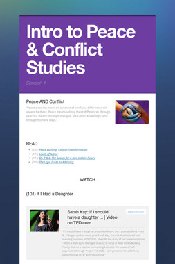 Intro to Peace & Conflict Studies
