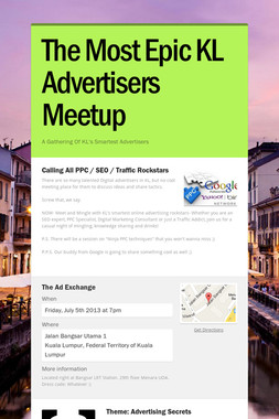 The Most Epic KL Advertisers Meetup