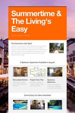 Summertime & The Living's Easy