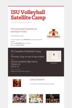 ISU Volleyball Satellite Camp