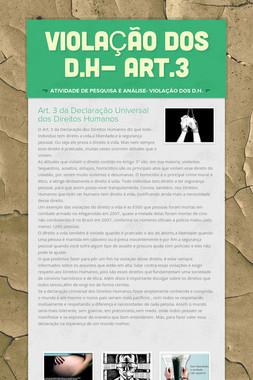 VIOLAÇÃO DOS D.H- ART.3