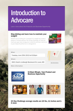 Introduction to Advocare