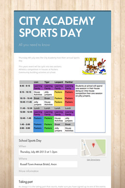CITY ACADEMY SPORTS DAY