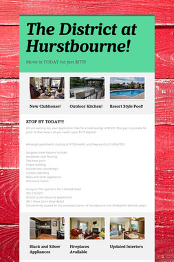 The District at Hurstbourne!