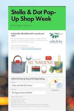 Stella & Dot Pop-Up Shop Week