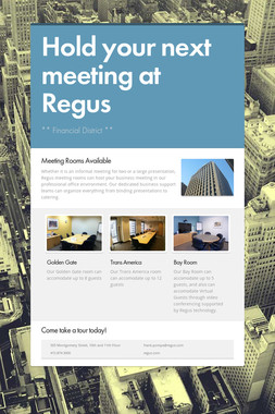Hold your next meeting at Regus