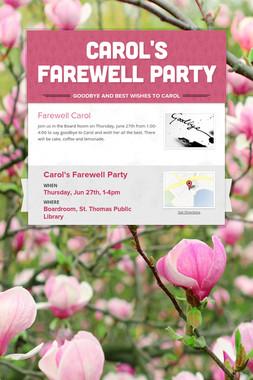 Carol's Farewell Party