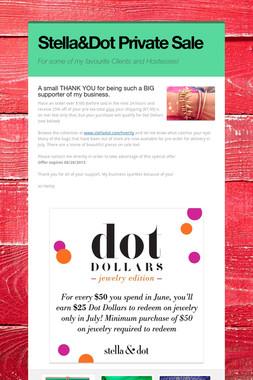 Stella&Dot Private Sale