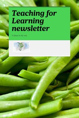 Teaching for Learning newsletter