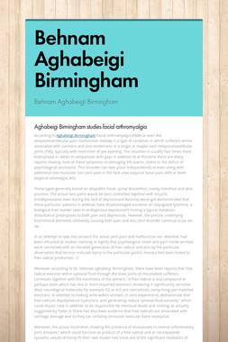 Behnam Aghabeigi Birmingham